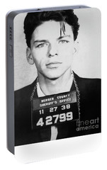 Frank Sinatra Mugshot Portable Battery Charger by Jon Neidert