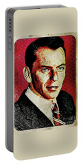 Frank Sinatra Pop Art Portable Battery Charger by Mary Bassett