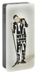 Frank Sinatra Typography Art Portable Battery Charger