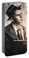 Frank Sinatra - Vintage Painting Portable Battery Charger by Ian Gledhill