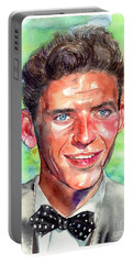Frank Sinatra Young Painting Portable Battery Charger