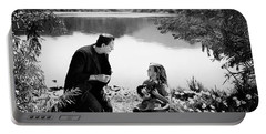 Frankenstein By The Lake With Little Girl Boris Karoff Portable Battery Charger