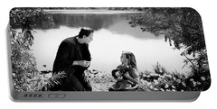 Frankenstein By The Lake With Little Girl Boris Karloff Portable Battery Charger