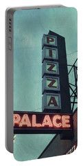 Portable Battery Charger featuring the photograph Frank's Pizza Palace by Joel Witmeyer