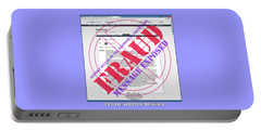 Portable Battery Charger featuring the digital art Fraud Email Exposed by Barbara Tristan