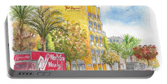 Fred Hayman Building, Cannon Dr And Clifton, Beverly Hills, Ca Portable Battery Charger by Carlos G Groppa