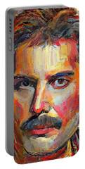 Freddie Mercury Colorful Portrait Portable Battery Charger