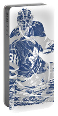 Frederik Andersen Toronto Maple Leafs Pixel Art 1 Portable Battery Charger