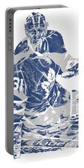 Frederik Andersen Toronto Maple Leafs Pixel Art 1 Portable Battery Charger