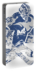 Frederik Andersen Toronto Maple Leafs Pixel Art 2 Portable Battery Charger
