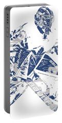 Frederik Andersen Toronto Maple Leafs Pixel Art 4 Portable Battery Charger
