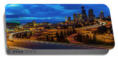 Freeway 5 North To Seattle Portable Battery Charger