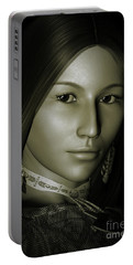 Portable Battery Charger featuring the digital art Free Spirit 2 by Shadowlea Is