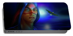Portable Battery Charger featuring the digital art Free  Spirit 3 by Shadowlea Is