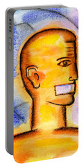 Portable Battery Charger featuring the painting Freedom Of Press  by Leon Zernitsky