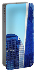 Portable Battery Charger featuring the photograph Freedom Tower And 2 World Financial Center by Sarah Loft