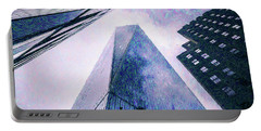 Freedom Tower Crayon Sketch Portable Battery Charger by Wade Brooks