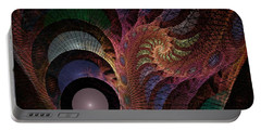 Portable Battery Charger featuring the digital art Freefall - Fractal Art by NirvanaBlues