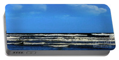 Portable Battery Charger featuring the digital art Freeport Texas Seascape Digital Painting A51517 by Mas Art Studio