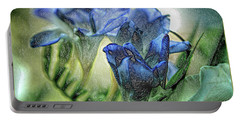 Portable Battery Charger featuring the photograph Freesia Carved In Blue by Lance Sheridan-Peel