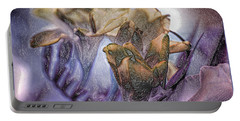 Portable Battery Charger featuring the photograph Freesia Carved One by Lance Sheridan-Peel