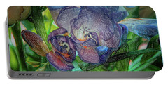 Portable Battery Charger featuring the photograph Freesia Multi Coloured by Lance Sheridan-Peel