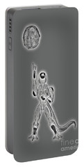 Freeza Black And White Portable Battery Charger