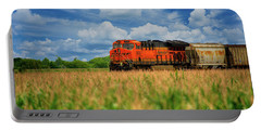 Freight Train Portable Battery Charger by Kelly Wade