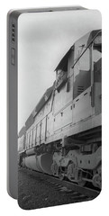 Portable Battery Charger featuring the photograph Freight Train Parked On Siding. by Frank DiMarco