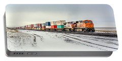 Freight Train Portable Battery Charger by Todd Klassy