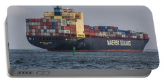 Freighter Headed Out To Sea Portable Battery Charger