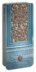 Portable Battery Charger featuring the photograph French Blue - Paris Door by Melanie Alexandra Price