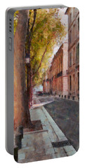 Portable Battery Charger featuring the photograph French Boulevard by Scott Carruthers