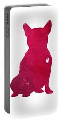 French Bulldog, Abstract Dog Art Print, Kids Wall Decor, Pink Watercolor Painting, Dog Art Print Portable Battery Charger