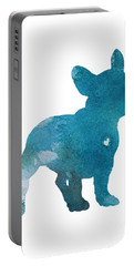 French Bulldog, Turquoise Home Decor, Dog Watercolor Portable Battery Charger