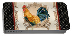 French Country Roosters Quartet 4 Portable Battery Charger