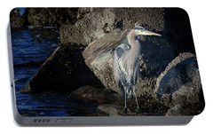 Portable Battery Charger featuring the photograph French Creek Heron by Randy Hall