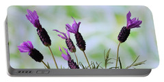 French Lavender Portable Battery Charger by Terence Davis