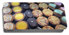 Portable Battery Charger featuring the photograph French Tarts by Therese Alcorn