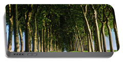 French Tree Lined Country Lane Portable Battery Charger