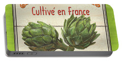 French Vegetable Sign 2 Portable Battery Charger by Debbie DeWitt