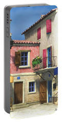 French Village Scene - Provence Portable Battery Charger