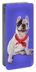 Portable Battery Charger featuring the digital art Frenchie Colour by Rob Snow