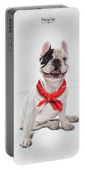 Portable Battery Charger featuring the digital art Frenchie by Rob Snow
