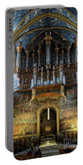 Fresco Of The Last Judgement And Organ In Albi Cathedral Portable Battery Charger by RicardMN Photography