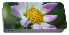 Fresh As A Dahlia Portable Battery Charger by Connie Handscomb