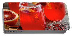 Portable Battery Charger featuring the photograph Fresh Blood Orange Margaritas by Teri Virbickis