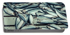 Portable Battery Charger featuring the photograph Fresh Caught Herring Fish by Edward Fielding