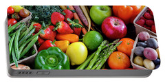 Fresh From The Farm Portable Battery Charger by Teri Virbickis