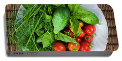 Portable Battery Charger featuring the photograph Fresh Garden Vegetables by Elena Elisseeva